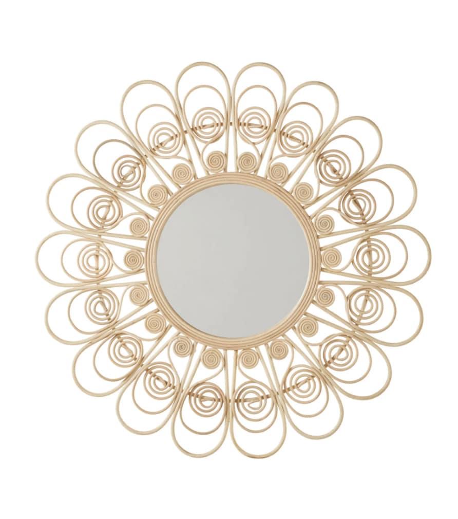 CAMELIA - Miroir rotin