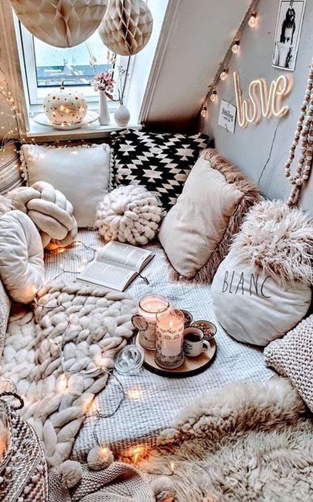 déco plaids et coussins lit