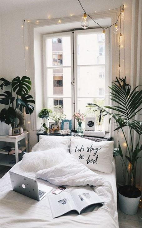 chambre déco cosy plantes