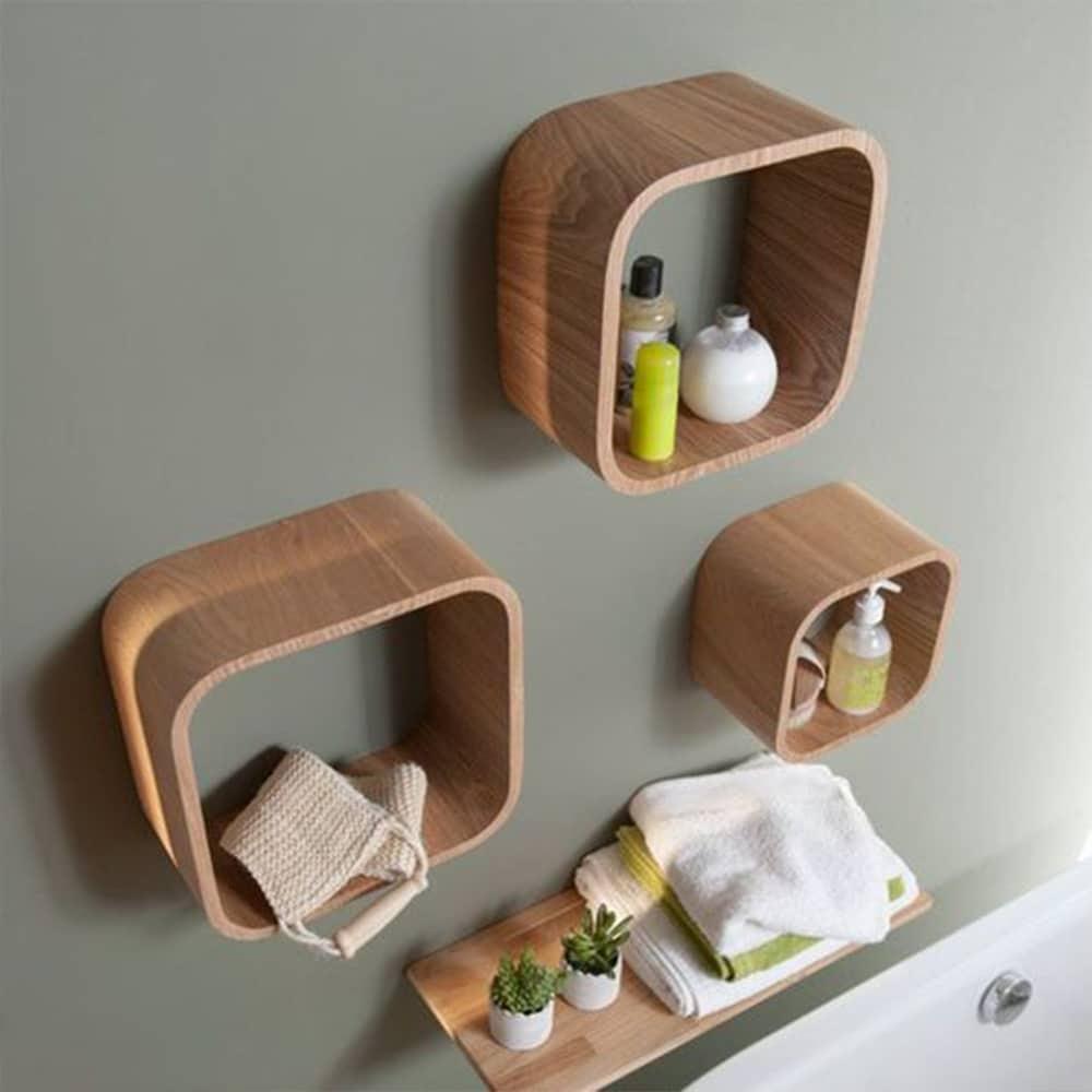 étagère carrée bois déco