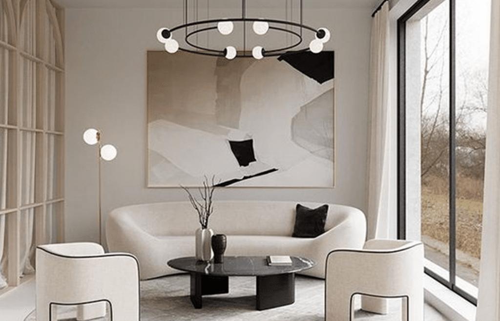 couleur salon design beige