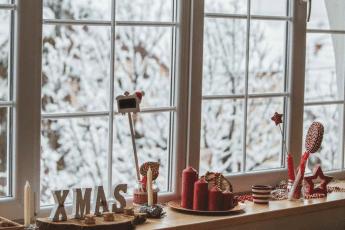 décorations fenêtres noël
