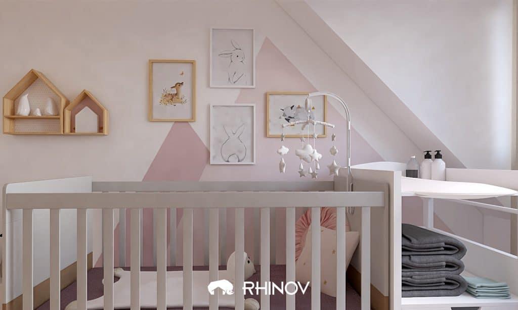 chambre bébé motif géométriques