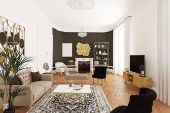 décoration haussmannienne moderne