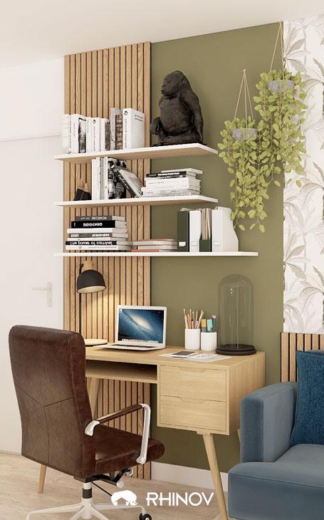 aménagement séjour : un coin bureau
