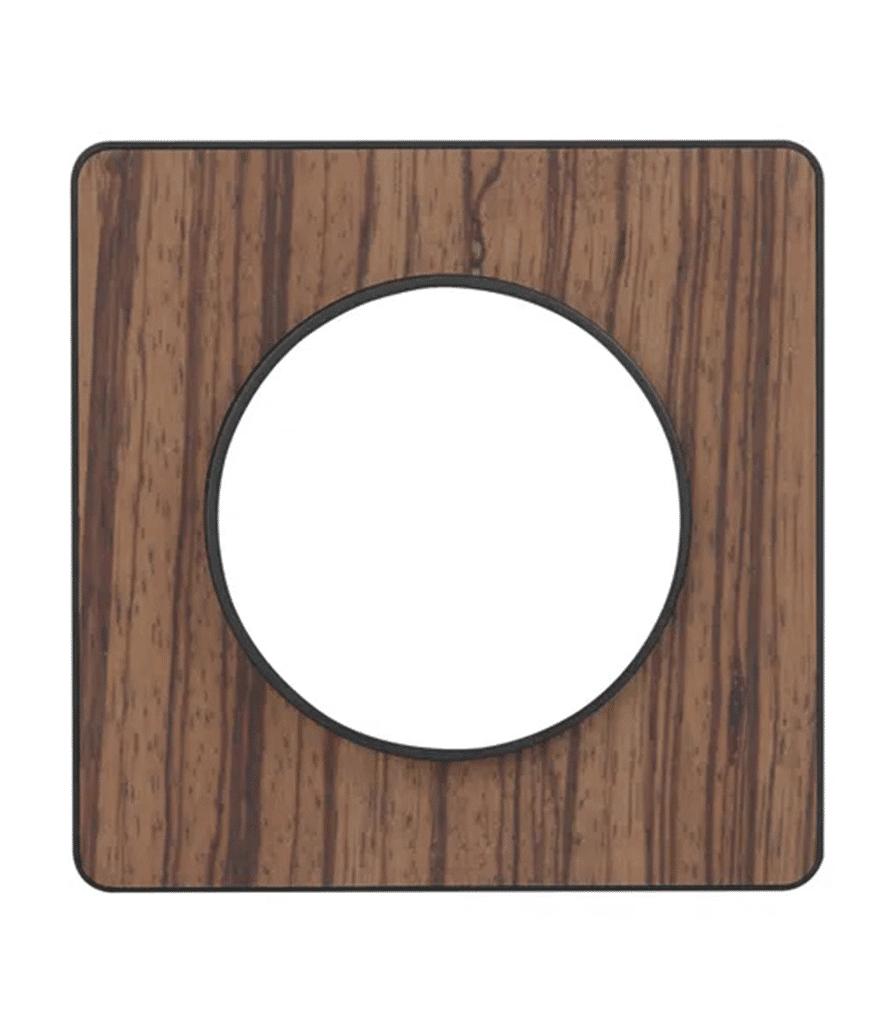 Plaque de finition Odace bois zebrano pour interrupteur - Schneider Electric