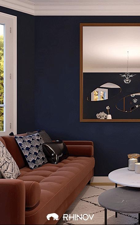 décoration bleue