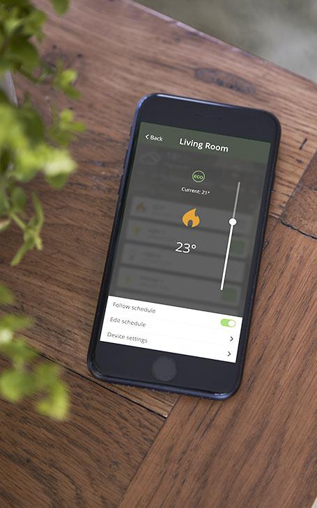 application mobile économie d'énergie avec wiser