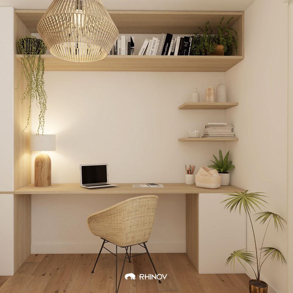 pinterest bureau wabi sabi bois et blanc