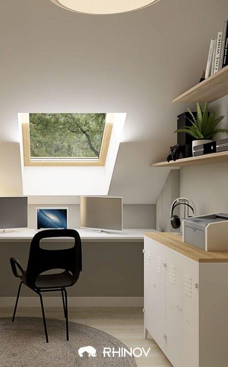 chambre sous comble bureau sous pente