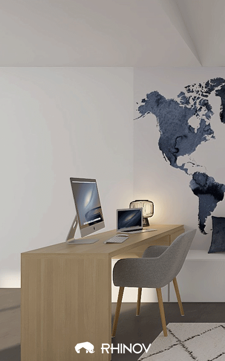 déco bureau minimaliste