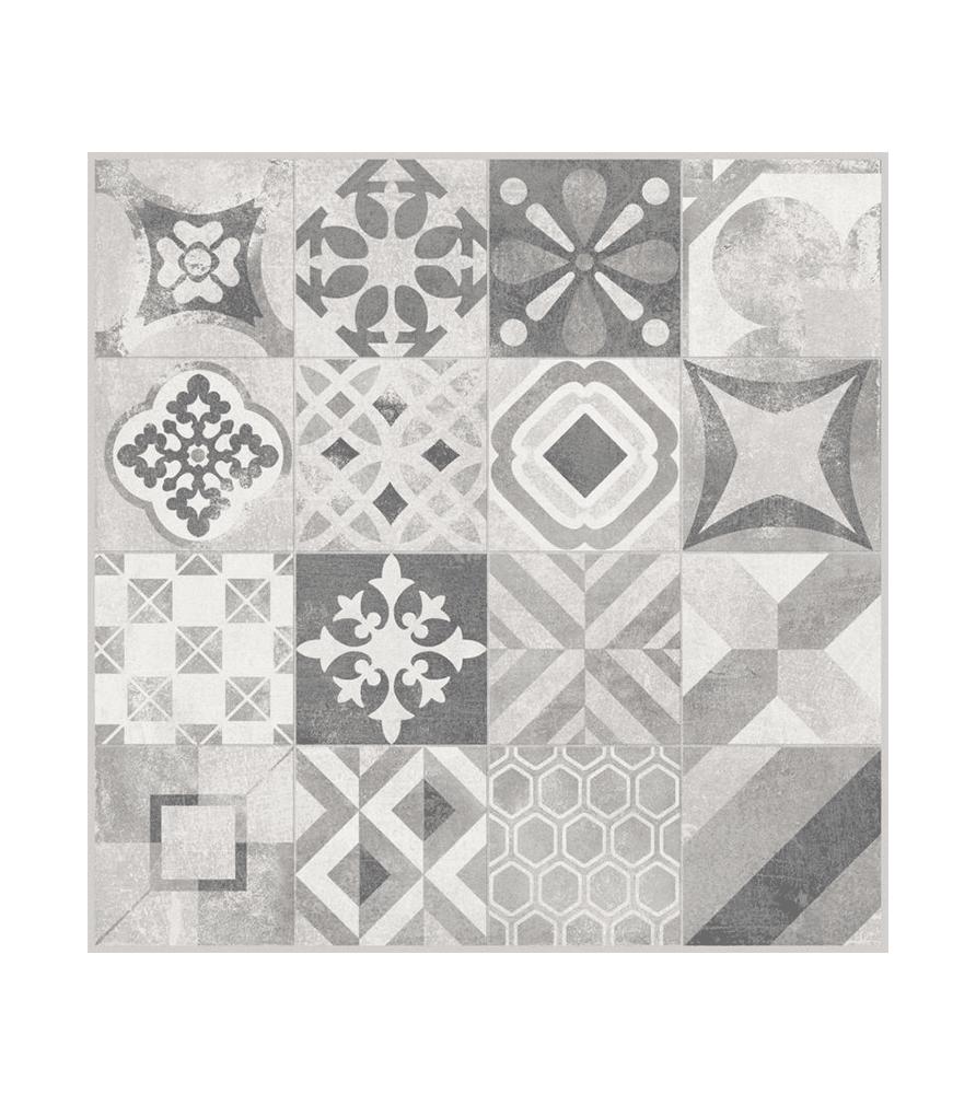 Carrelage décor GATSBY mat 60 x 60 cm - LAPEYRE
