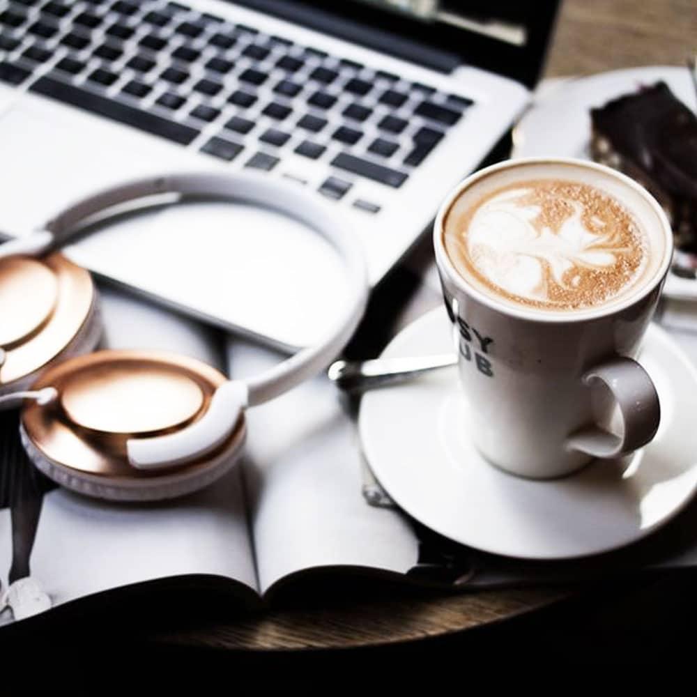 travailler avec du café